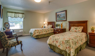 Shared living space at mcminnville assisted