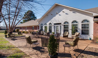 Back patio in savannah at assisted living