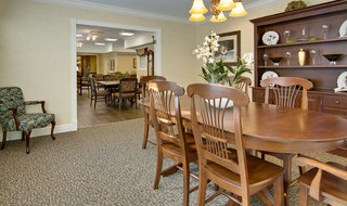 Private dining at washington assisted living