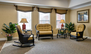 Reading area at washington assisted living