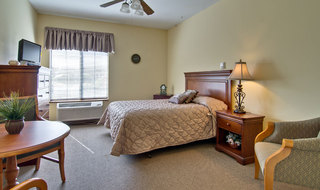 Single bedroom at saint peters assisted living