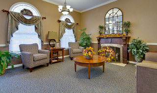 Fire side lounge at neosho assisted living