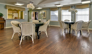 Kitchen and dining area in neosho assisted living