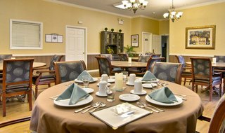 Dining set at kennett assisted living
