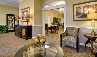 Kennett assisted living entry lounge