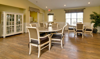 Kitchen and dining area at the assisted living in kennett