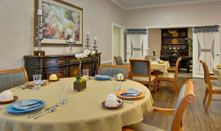 Catered dining at troy assisted living