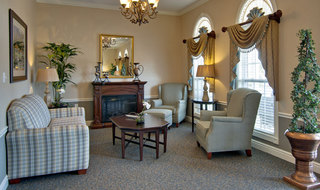 Troy assisted living fire side lounge