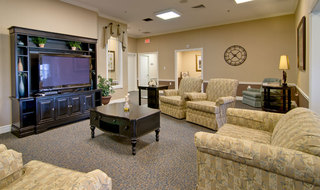 Tv lounge at troy assisted living
