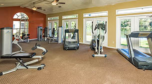 Fitness center at our apartment community in Tampa, FL