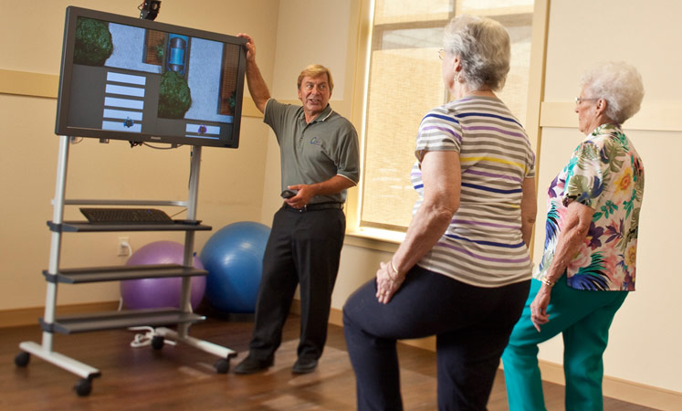 Virtual reality therapy at the senior living in Wichita