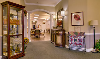 Assisted living hallway in collierville