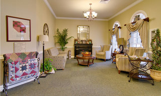 Assisted living lobby area in collierville