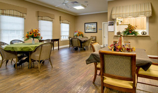 Dining area for collierville assisted living residents