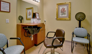Hair salon at assisted living in collierville
