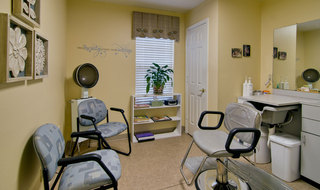 Assisted living community hair salon