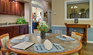 Dining table set in henderson assisted living