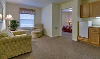 Model apartment for assisted living residents