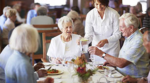 Services and amenities for senior living residents at Victorian Place of Owensville.