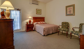 Assisted living bedroom model in springfield