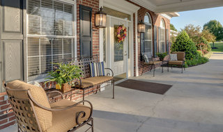 Assisted living community porch in springfield