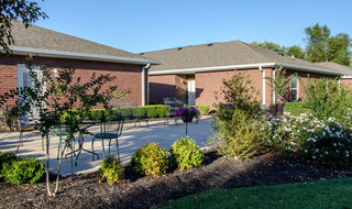 Assisted springfield senior living community grounds