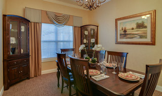 Dining table set for seniors in springfield assisted living