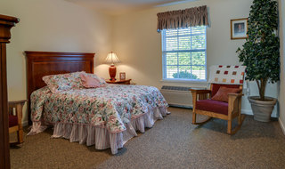 Springfield model bedroom for assisted living