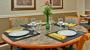 Services and amenities for senior living residents at Harmony Hill.