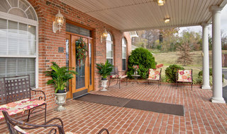 Huntingdon assisted living front porch