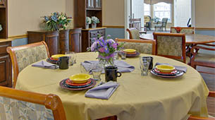 Services and amenities for senior living residents at Jefferson Gardens.