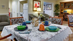 Services and amenities for senior living residents at Maple Tree Terrace.