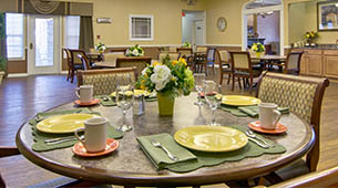 Services and amenities for senior living residents at NorthPark Village.