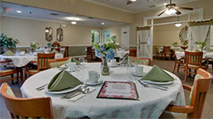 Services and amenities for senior living residents at Park View Meadows.