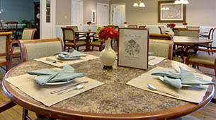 Services and amenities for senior living residents at Parkway Cove.