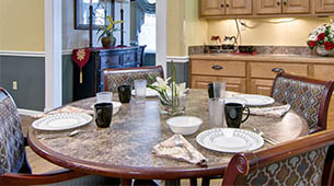 Services and amenities for senior living residents at Ravenwood Terrace.