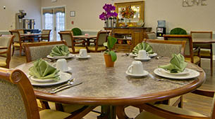 Services and amenities for senior living residents at Schilling Gardens.