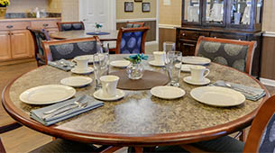 Services and amenities for senior living residents at Springfield Heights.