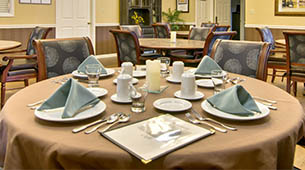 Services and amenities for senior living residents at St. Francis Park.