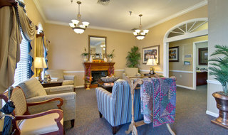 Assisted living community lounge in marshall