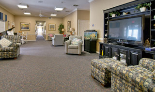 Assisted living community tv area in marshall