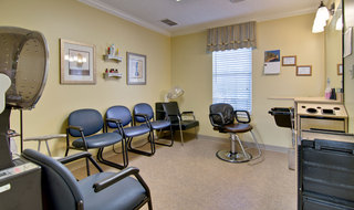 Hair salon at marshall assisted living community