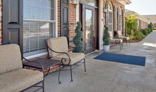 Marshall senior living community porch