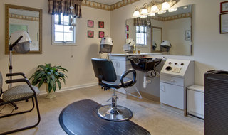 Hair salon at union assisted living community
