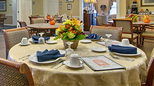 Services and amenities for senior living residents at Westport Estates.