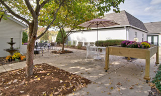 Outdoor area in union at assisted living community