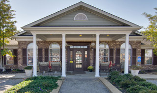 Assisted living community building entrance in union city