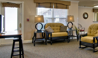 Assisted living community building interior in union city