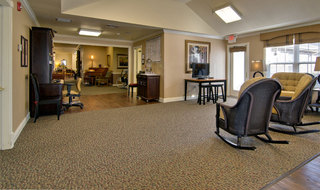 Assisted living in union city community building interior