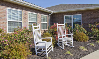 Outdoor seating for assisted living seniors in union city